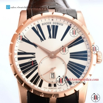 1:1 Roger Dubuis Excalibur 36 Miyota 9015 Auto Rose Gold Case With White Dial For Sale