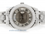 Cheap replica Rolex Masterpiece Swiss ETA 2836 Movement Diamond Bezel with Gray Diamond Dial Roman M