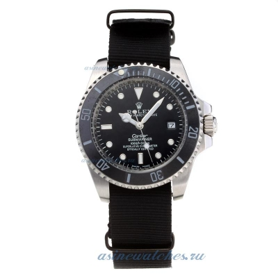 Cheap Rolex Submariner Automatic Ceramic Bezel with Black Dial-Nylon Strap on sale