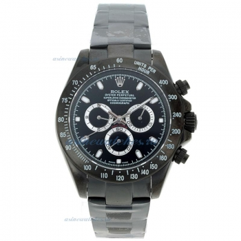 Cheap replica Rolex Daytona II Automatic Full PVD Stick Markers with Black Dial Sapphire Glass onlin