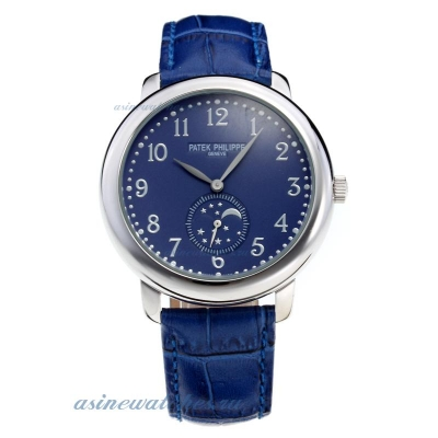 Replica Patek Philippe Number Markers with Blue Dial and Strap online