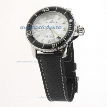 Blancpain Fifty Fathoms Automatic with Silver Dial-Nylon Strap on sale
