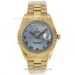 Cheap replica Rolex Datejust II Swiss ETA 2836 Movement Full Gold Roman Markers with Blue Dial onlin