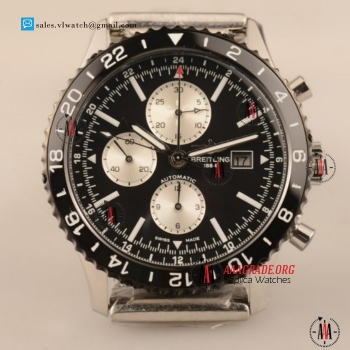 Cheap Breitling Chronoliner 7750 Auto Chronograph Steel Case with Ceramic Bezel For Sale - (EF)