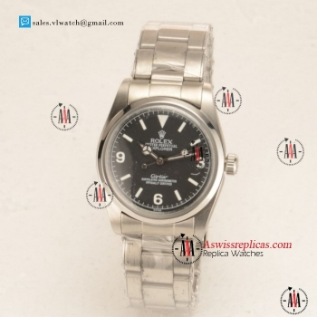 Rolex Explorer Cartier Steel Case with Black Dial For Sale