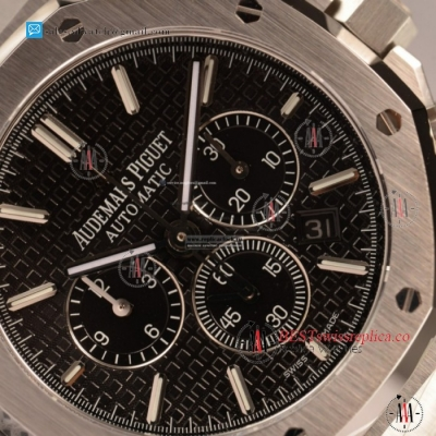 Audemars Piguet Royal Oak Chronograph Swiss Valjoux 7750 Auto Steel Case With Black Dial For Sale - (JH)