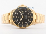 Cheap Rolex Submariner 18K Gold With Swiss ETA 2836 Movement Ceramic Bezel-43mm OverSize Version on