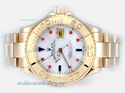 Cheap replica Rolex Yacht-Master Automatic Full Gold with White Dial 2 sale in this store!
