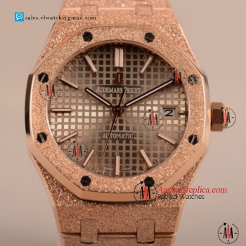 Cheap Audemars Piguet Royal Oak 41MM 3120 Auto Rose Gold Case with Gray Dial For Sale - (EF)